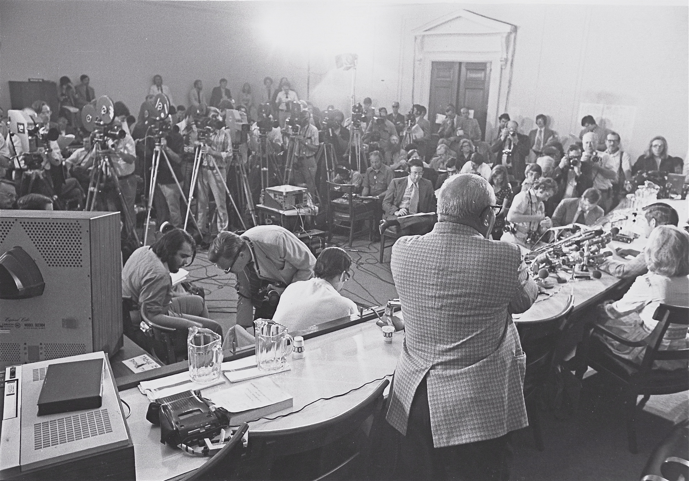 News Conference During Watergate Hearings
